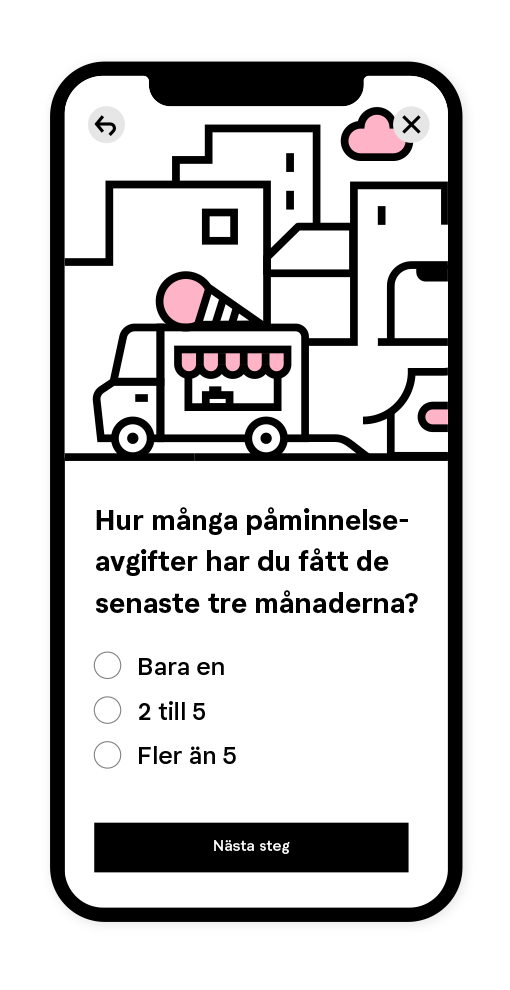 Klarna Never Forget Test illustration